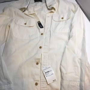Nordstrom Ivory Winter Chambray XS Trim Fit NWT